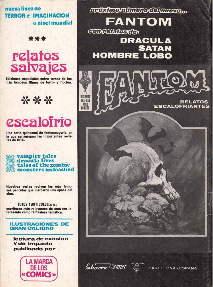 """Publicidad del """"nuevo Fantom"""" con la cabecera antigua y anunciando el Hombre Lobo entre los contenidos"""