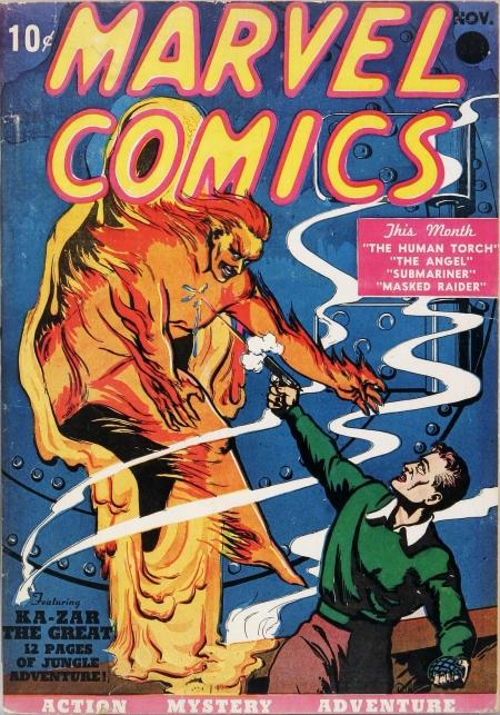 El próximo año se cumplirá el 75 Aniversario de Marvel Comics Nº 1 USA. ¿No sería hora de que se editara por fin en nuestro país...?