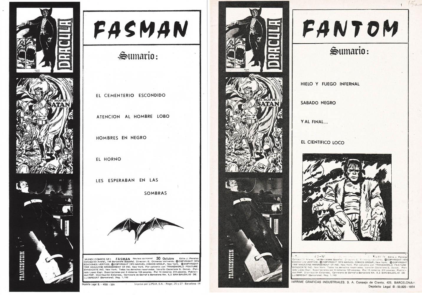Sumario Fasman – Sumario Fantom