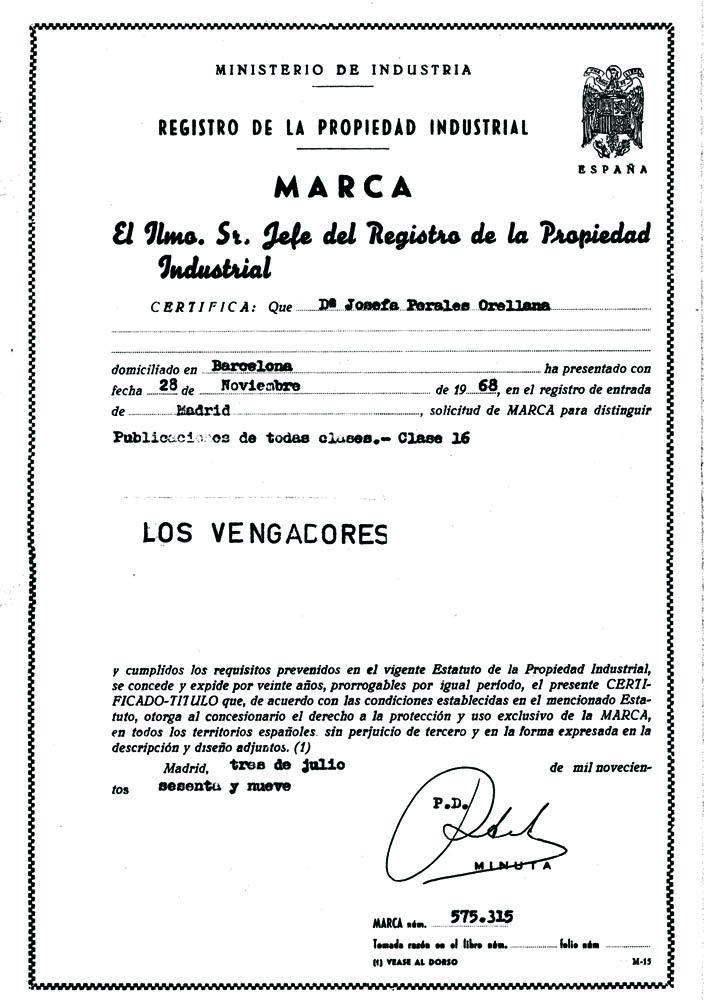 M0575315. LOS VENGADORES04. Certificado.1000