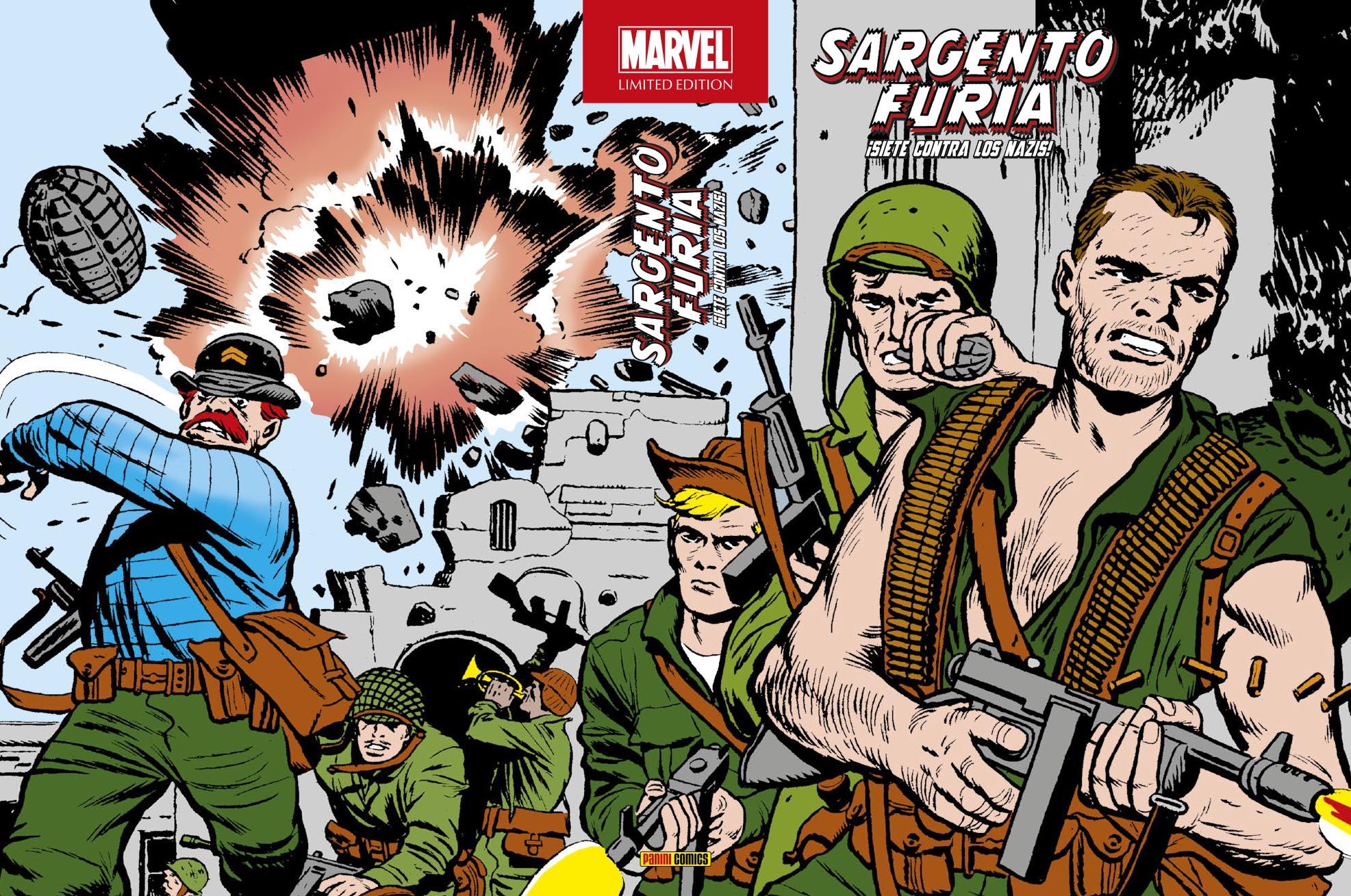 Marvel Limited Edition. Sargento Furia Siete contra los nazis completa