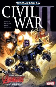 Portada del cómic del día gratis americano Civil War II
