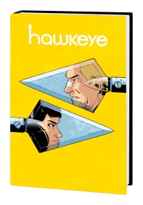 Written by JEFF LEMIRE Penciled by RAMON PEREZ Cover by RAMON PEREZ Team Hawkeye heads back to the future! Kate Bishop and Clint Barton are thrown together in a new adventure spanning three eras! First, past and present lives collide as Kate and Clint face a threat that will challenge everything they know about what it means to be Hawkeye. Barton and Bishop race against time to save a group of innocent kids with devastating powers. But will their actions cause a deep-seated rift that stretches across time? Find out as we head to the future to join old man Clint and a wiser Kate as they're reluctantly reunited. As tomorrow's Hawkeyes confront the Mandarin, today's must discover what makes a hero and what breaks a hero. It's more than just a bow and arrows. Collecting ALL-NEW HAWKEYE (2015A) #1-5 and ALL-NEW HAWKEYE (2015B) #1-6. 240 PGS./Rated T+ …$34.99 ISBN: 978-1-302-90219-3 Trim size: oversized